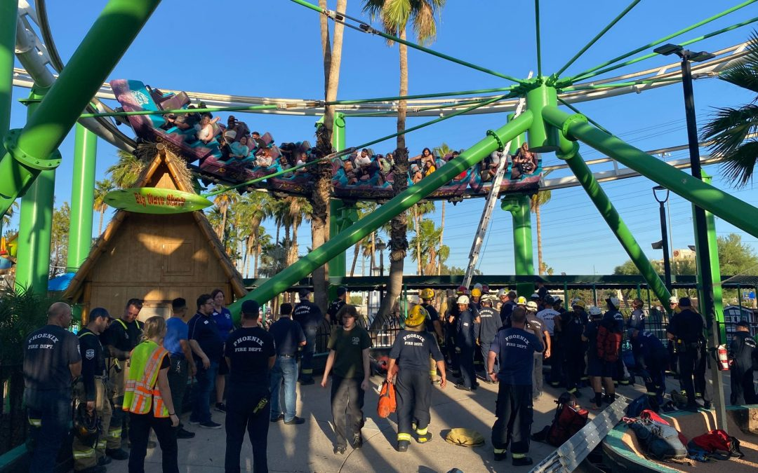 22 people rescued from stalled rollercoaster at Castles N' Coasters