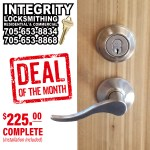Integrity Locksmithing Deal Of The Month June 2020