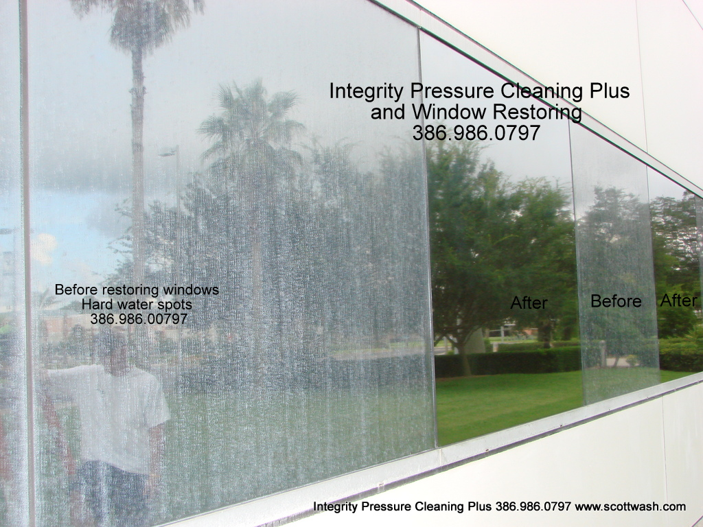 Hard Water Stains Removed Integrity Pressure Cleaning Plus