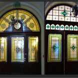 2-93 Starogard Gd. wielkie witrażowe drzwi
