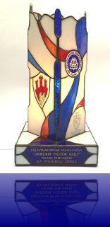 5-.24 Witrażowy Puchar dla MKM RP ufundowany i wykonany przez Pracownie Witraży Intek-Art