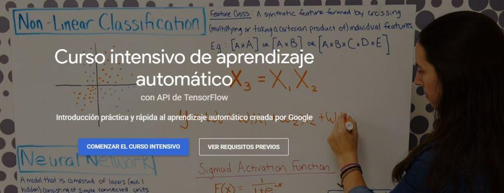 Curso intensivo de aprendizaje automático de Google