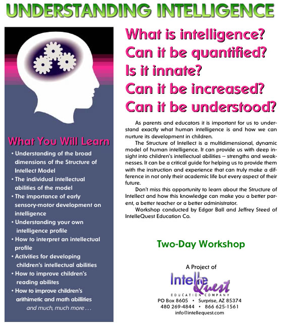 Structure of Intellect - IntelleQuest Education Company