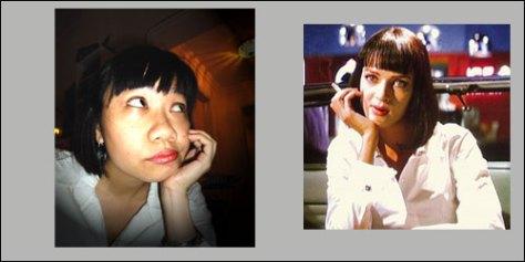 Me and Uma Thurman as Mia Wallace