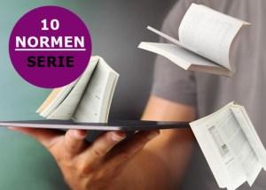 Titelbild der Blogserie 10 Normen für die Technische Dokumentation