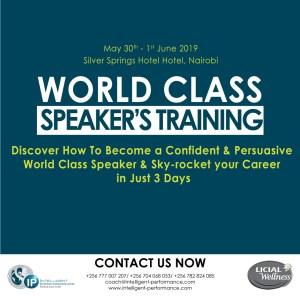 World Class Speakers' Training