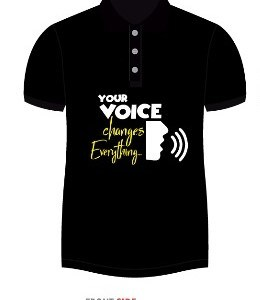 """Your Voice Changes Everything"" Branded T-Shirt"