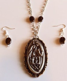 Nativity Necklace & Earings Set