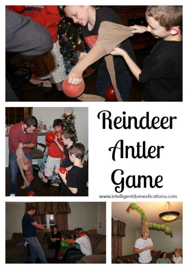 Reindeer Antler Game. Christmas party games. #christmaspartygames #partygames #reindeerantlergame