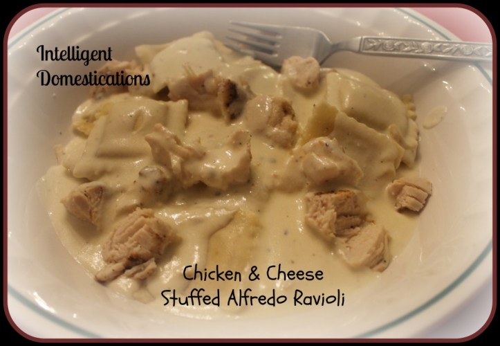 Chicken & Cheese Stuffed Alfredo Ravioli Intelligent Domestications.com