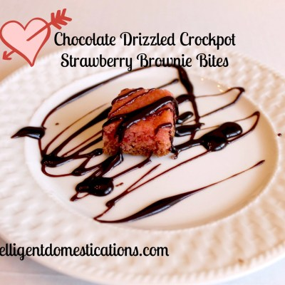 Crockpot Strawberry Brownies Two Ways: Chocolate Drizzled Bites or White Chocolate Chip
