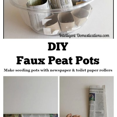 DIY Faux Peat Pots for Indoor Seed Starting