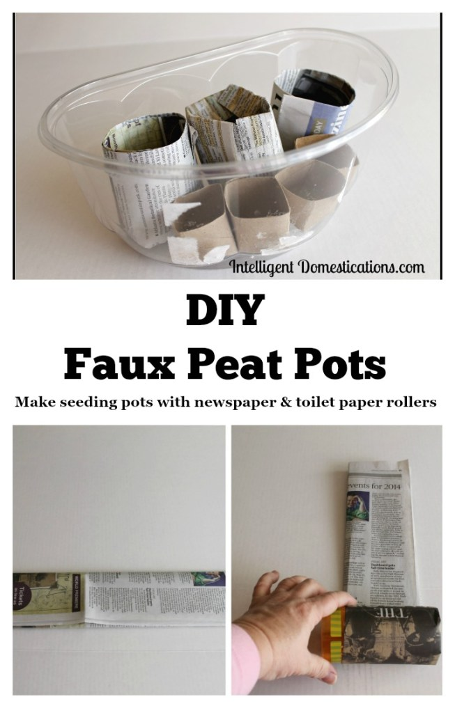 DIY Faux Peat Pots.intelligentdomestications.com