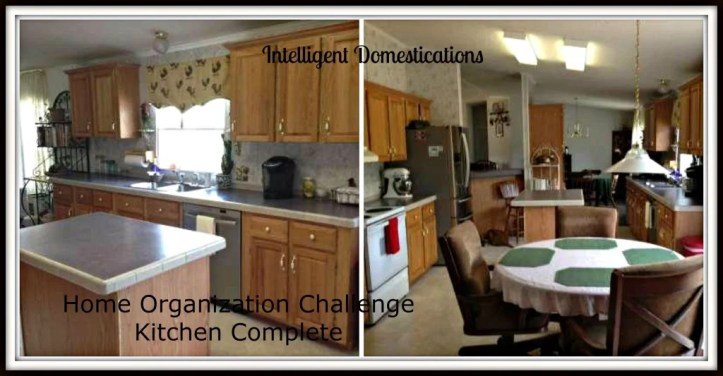 Kitchen complete Home Organization Challenge
