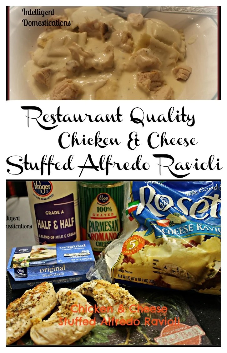 Restaurant Quality Chicken & Cheese Stuffed Ravioli.intelligentdomestications.com