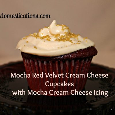 Mocha Red Velvet Cream Cheese Cupcakes with Mocha Cream Cheese Icing