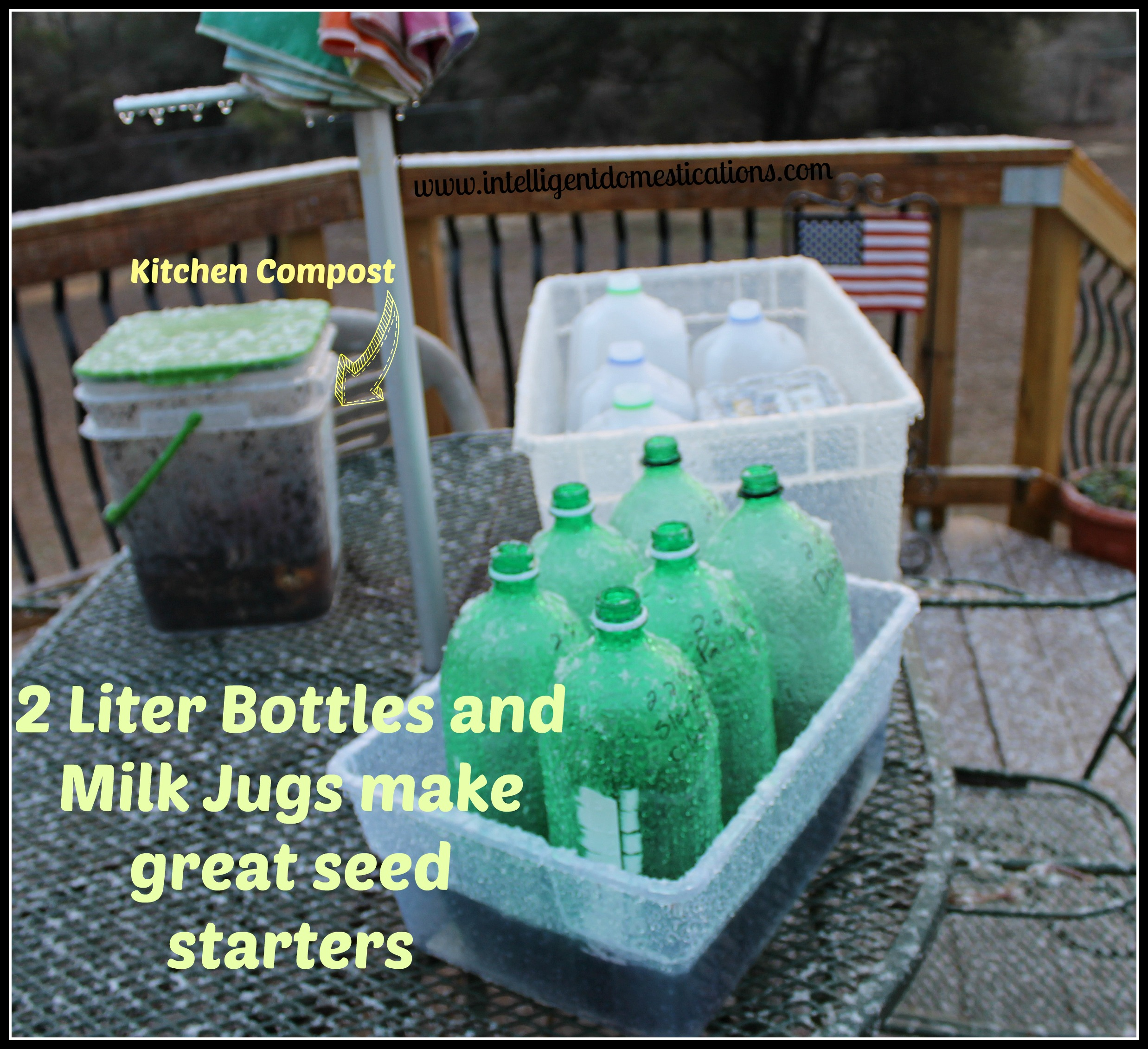 repurpose milk jugs u0026 2 liter bottles for winter seed sowing