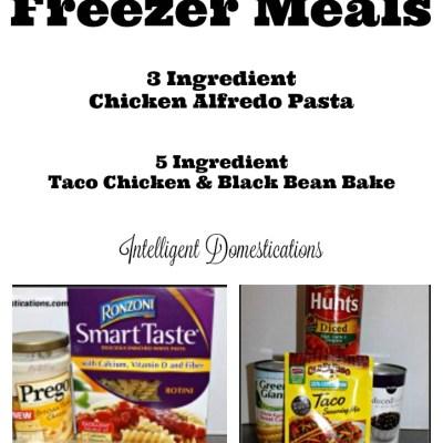 2 Super Easy Chicken Freezer Meals