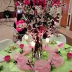 Cherry Blossom tablescape centerpiece ideas.intelligentdomestications.com