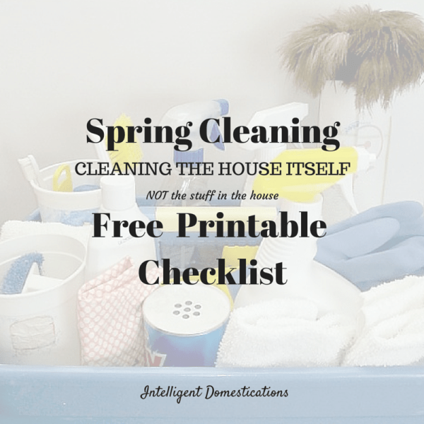 Spring Cleaning Free Printable Checklist #springcleaning