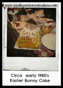 Bunny Cake II Circa 1980's l intelligentdomestications.com