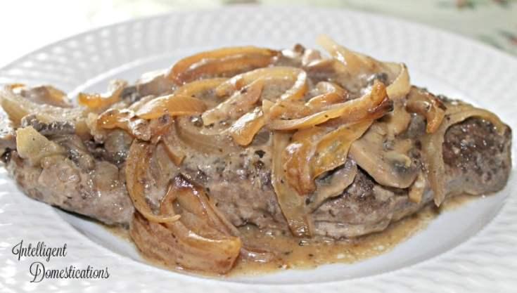 flat iron steak and gravy