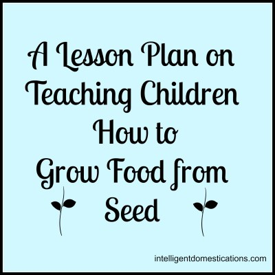 A Lesson Plan For Teaching Children to Grow Food From Seed