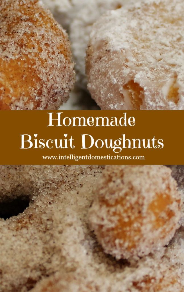 Homemade Biscuit Doughnuts.www.intelligentdomestications.com
