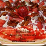 Sweet & Salty Strawberry Watermelon Salad by intelligentdomestications.com