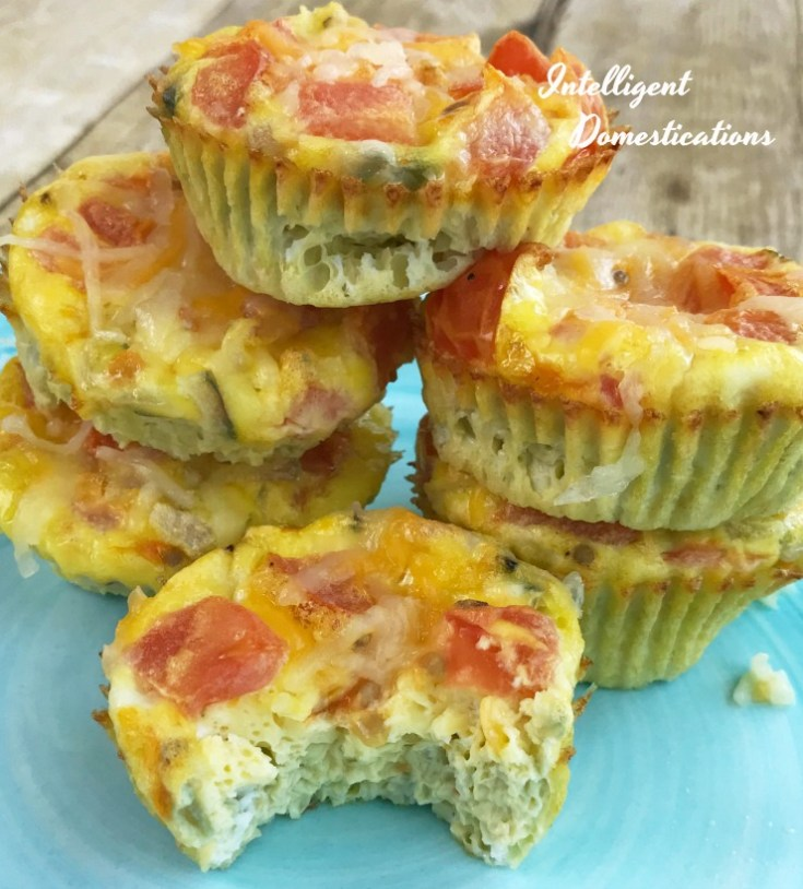 Baked Egg & Veggie Muffin Cup Omelets