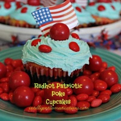 Redhot Patriotic Poke Cupcakes
