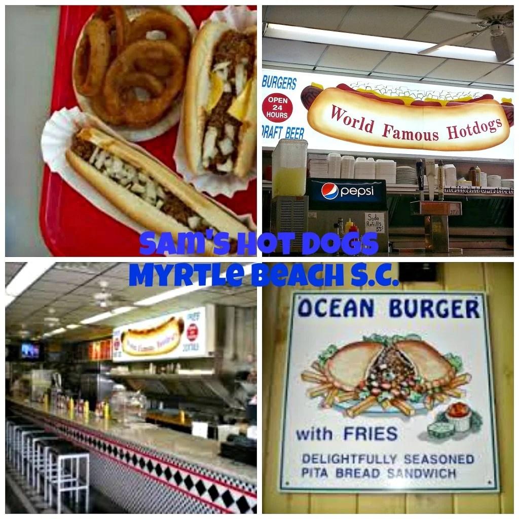 Sam's Hot Dogs Myrtle Beach S.C. Collage. intelligentdomestications.com