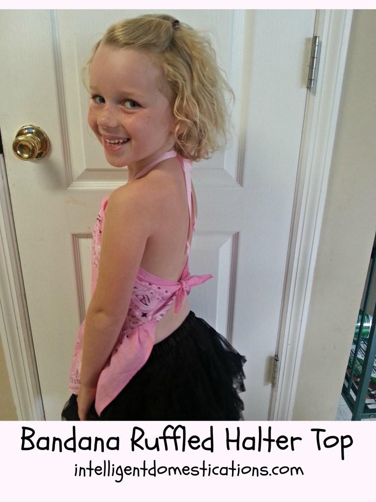 Bandana Ruffled Halter Top.Back View.intelligentdomestications.com