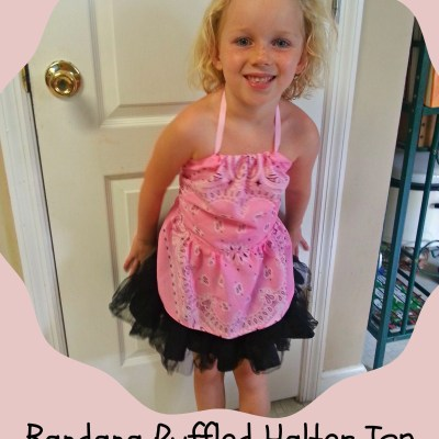 DIY Ruffled Bandana Halter Top