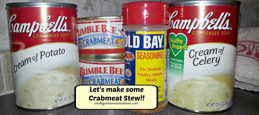 Ingredients for making Crab stew