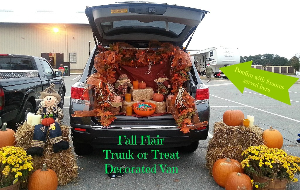 Fall Flair Decorated Van for Trunk or Treat.intelligentdomestications.com