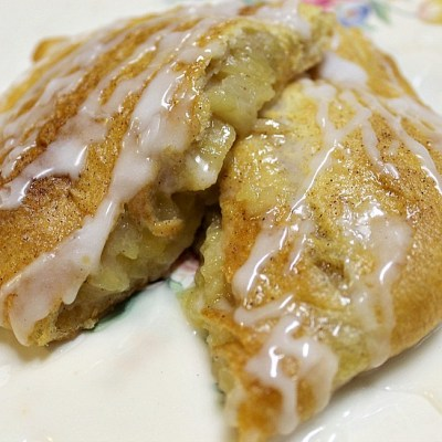 Homemade Crescent Apple Turnovers