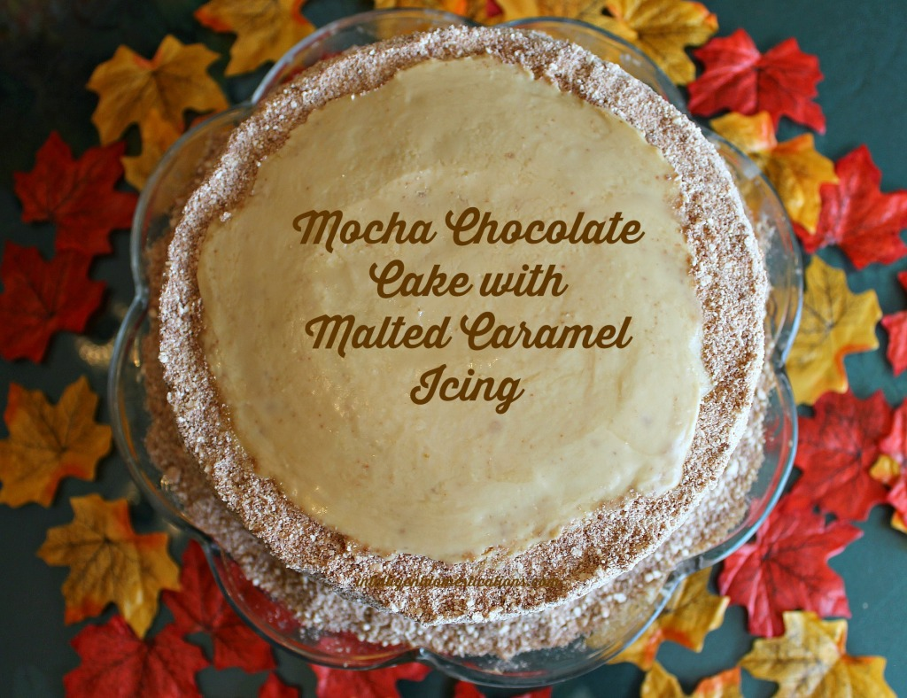 Mocha Chocolate Cake with Malted Caramel Icing by Intelligentdomestications.com