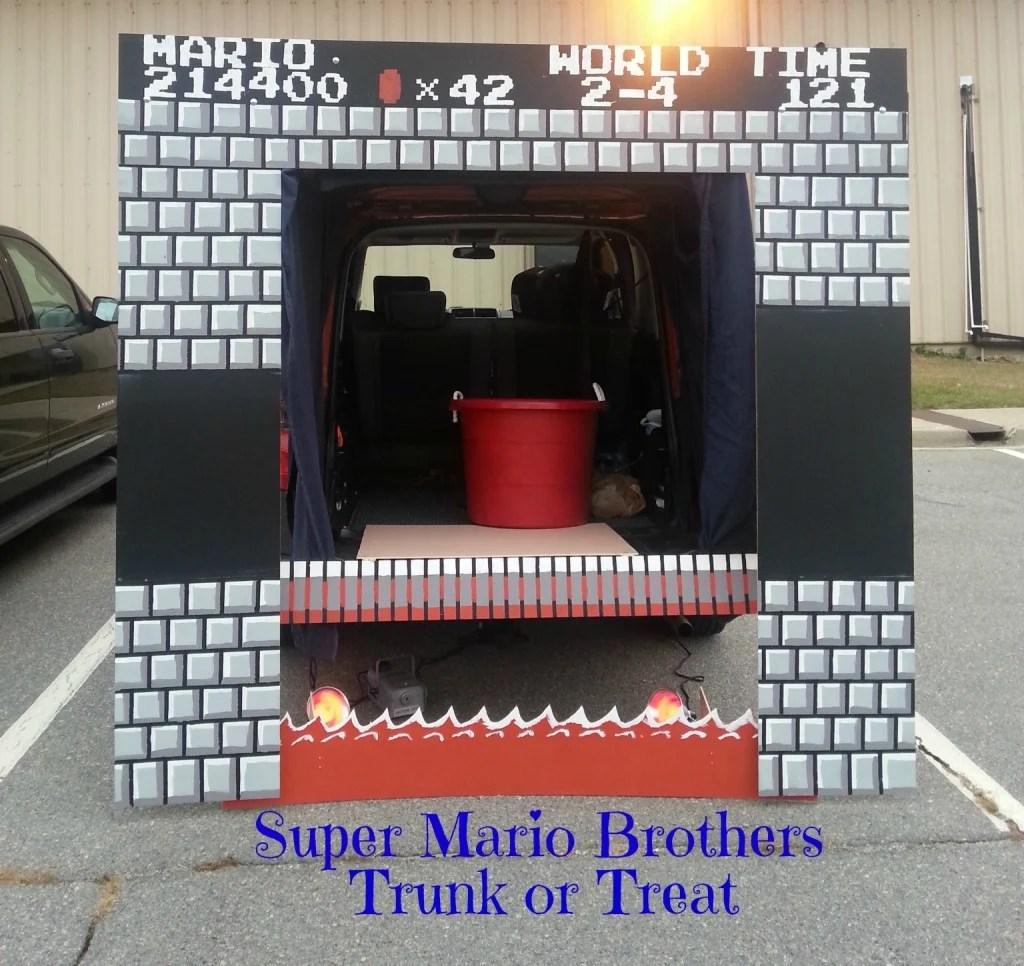 Super Mario Bros. Trunk or Treat Decor.intelligentdomestications.com
