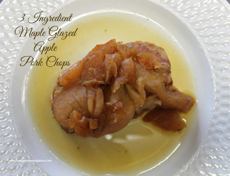 Crockpot Maple Glazed Apple Pork Chops