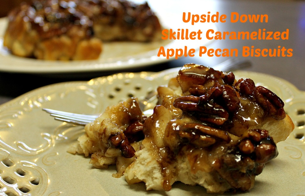 Enjoy a slice of Upside Down Skillet Caramelized Apple Pecan Biscuits.intelligentdomestications.com