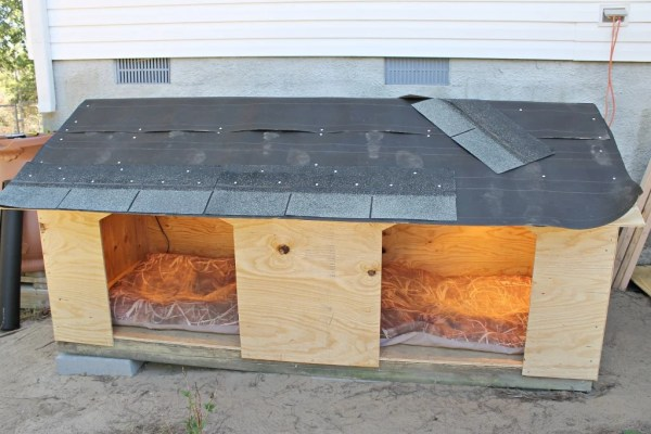 Dog House in the making.10.Find plans and instructions at www.intelligentdomestications.com