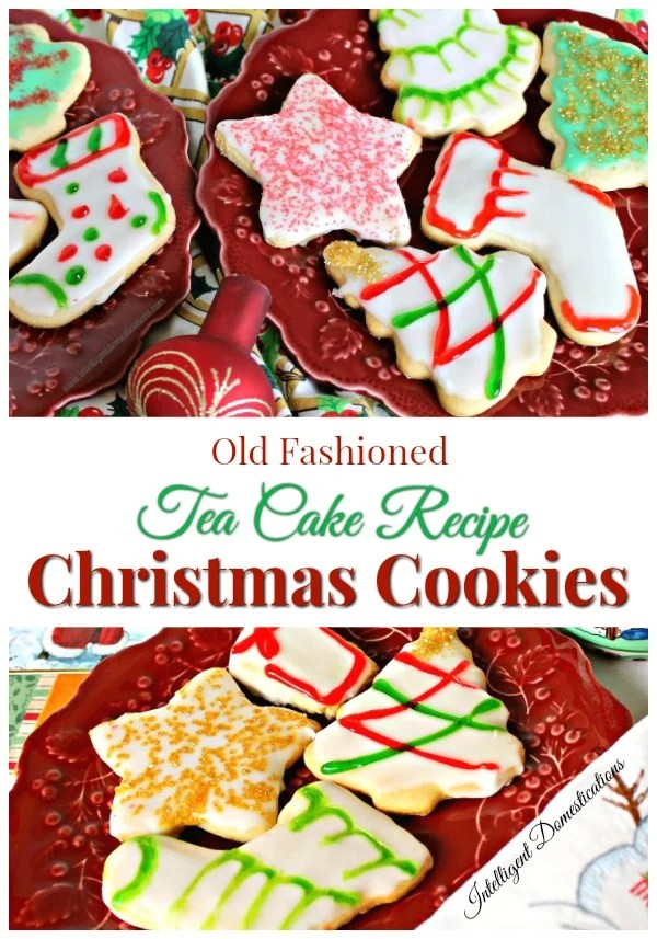 Old Fashioned Tea Cake Christmas Cookies recipe. #Christmascookies