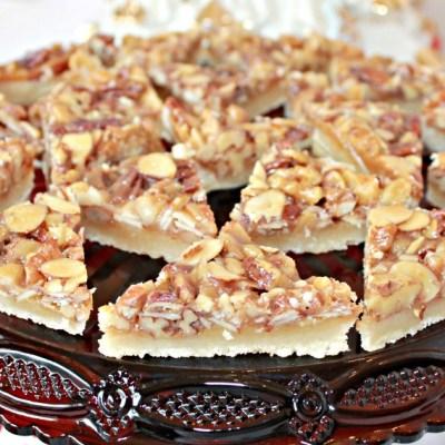 Triple Nut Bar Cookies Easy Recipe