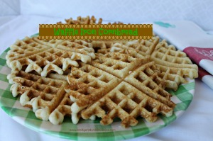 You can make your cornbread in the Waffle Iron, no oil needed! www.intelligentdomestications.com