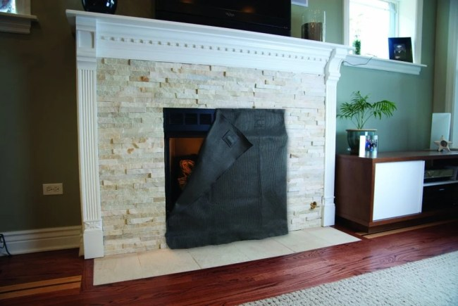 Fireplace blocker blanket