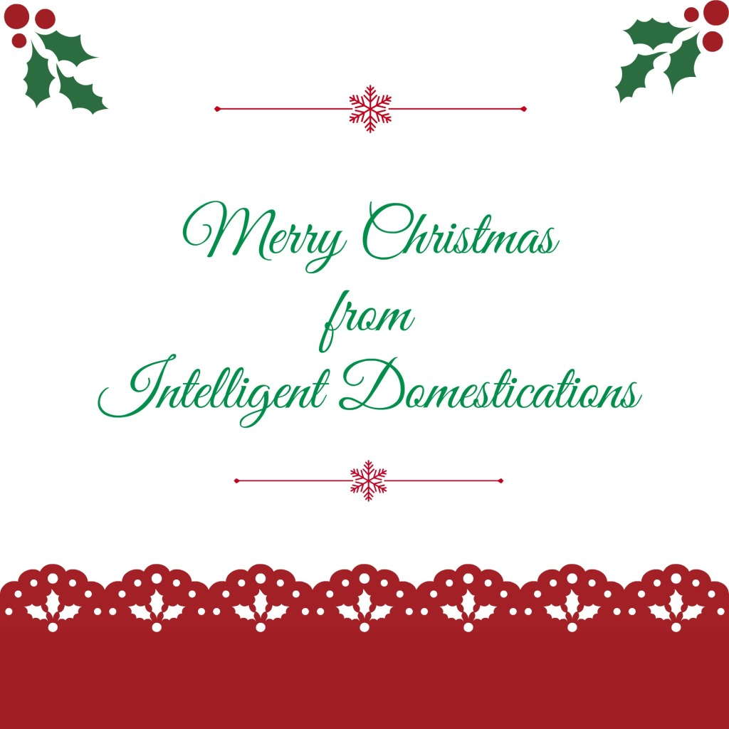 Merry Christmas from Intelligentdomestications.com