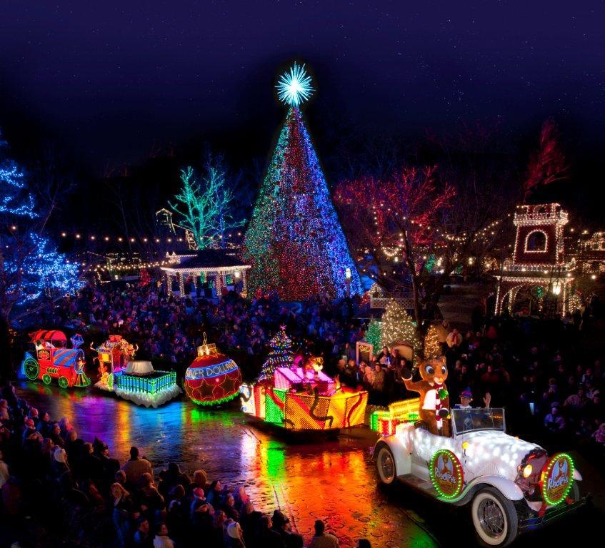 Rudolph parade on Main Street.photo courtesy of Dollywood