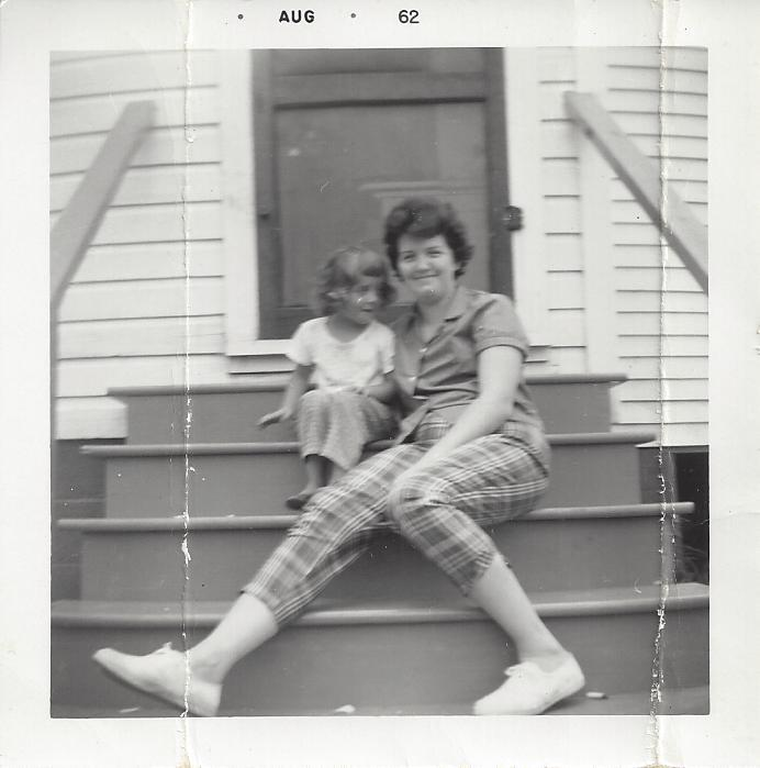Me and Momma on the steps in 1962.intelligentdomestications.com