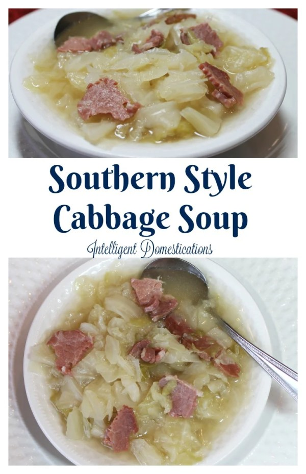 How to make Southern Style Cabbage Soup. We call it Cabbage and Cornbread for dinner because we always serve it with cornbread. #easyrecipe #Cabbagerecipe